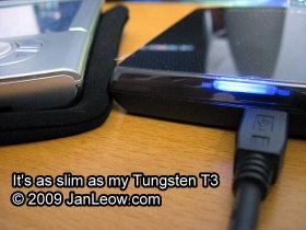 Transcend StoreJet 25F was as slim my Palm Tungsten T3